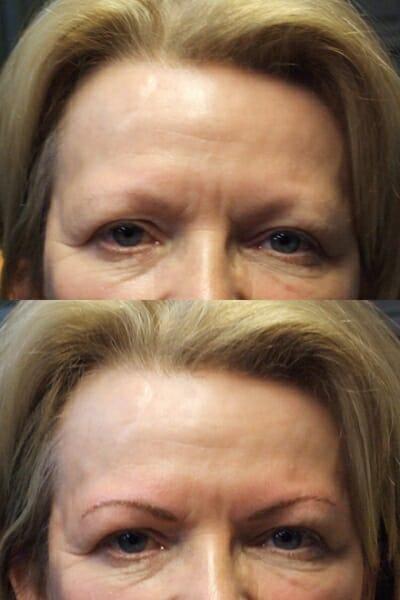 Permanente Make-up bijtekenen werkbrauwen