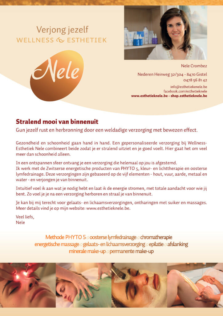 Folder Wellness-Esthetiek Nele Gistel
